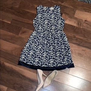A-line dress with ornamental/floral Details